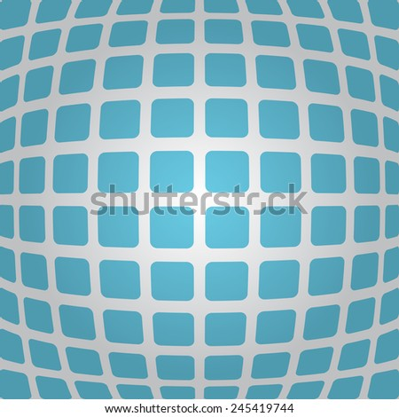 Bulging blue background with rounded rectangles, 3d illustration, vector, eps 10 - stock vector