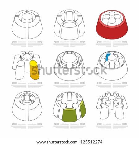 bulk round infographics - stock vector