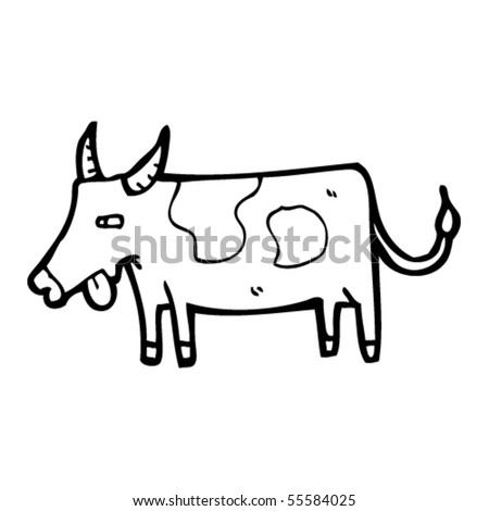 bull cartoon - stock vector