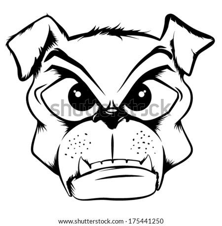 Bull Dog or Pug Mascot - stock vector