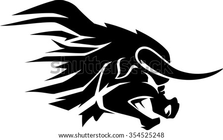 The Rock Brahma Bull Logo Red
