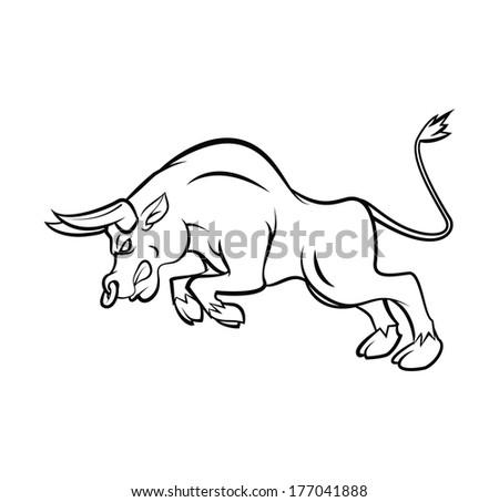 Bull Tattoo Vector Illustration - stock vector