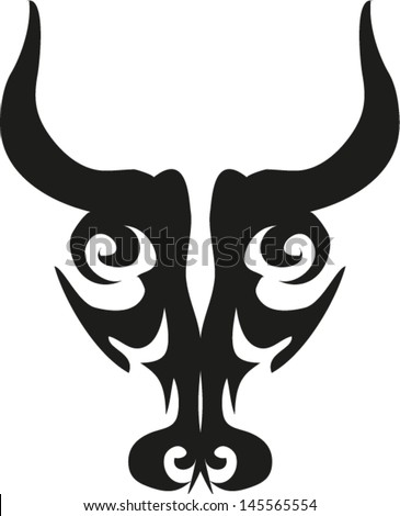 Bull tattoos vector. - stock vector