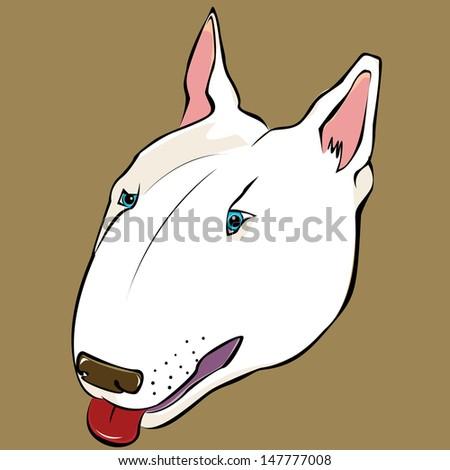 Bull terrier - stock vector