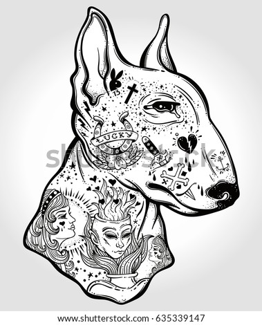 Bull Terrier Stock Images RoyaltyFree Images Vectors - Bull terrier art