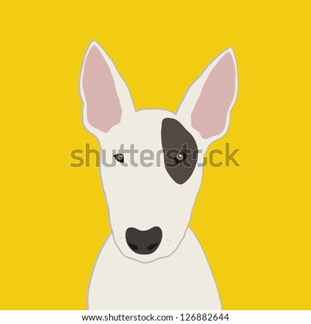 Bull terrier, The buddy dog - stock vector