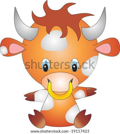 bull vector - stock vector