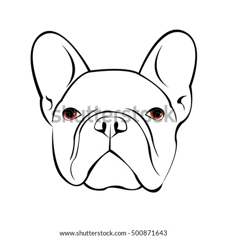 bulldog face drawing stock images royalty free images vectors shutterstock 3373