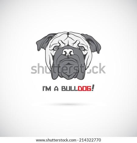 Bulldog head. Vector illustration. - stock vector