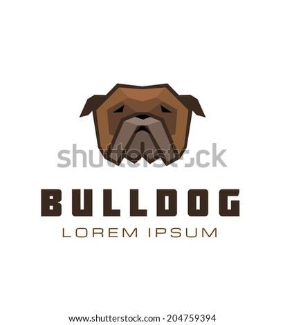 Bulldog Icon. Dog Emblem Vector.  - stock vector