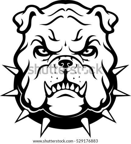 bulldog mascot head stock vector 529176883 shutterstock rh shutterstock com bulldog mascot clipart free