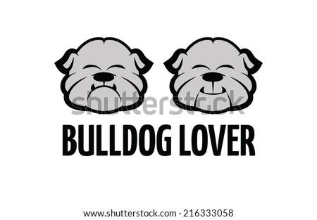 Bulldog set - stock vector