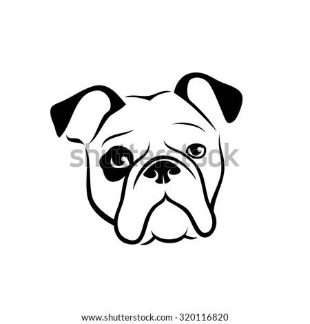 bulldog vector illustration stock vector 317611202 - shutterstock
