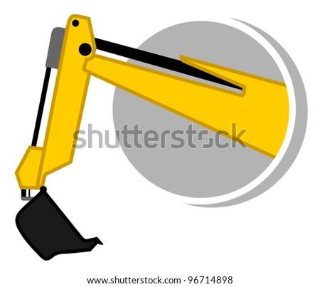 Bulldozer arm icon - stock vector