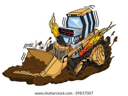 Cartoon Bulldozer Stock Images Royalty Free Images