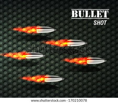 bullet background concept. vector illustration - stock vector
