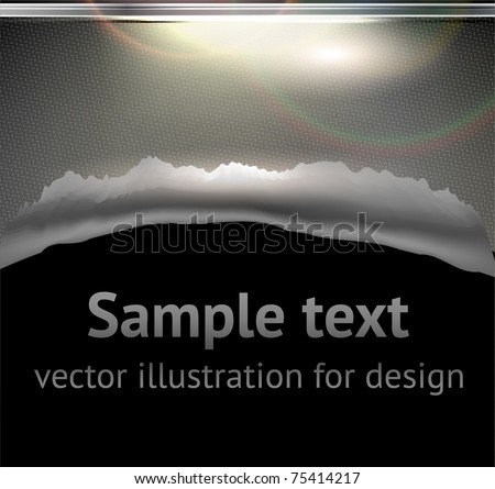 Bullet Hole and Slash at metal abstract background for techno design. eps 10 - stock vector