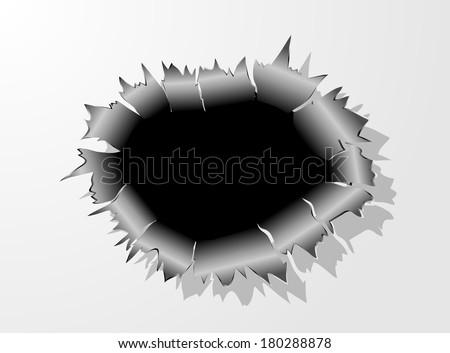 Bullet Hole Metal vector  - stock vector