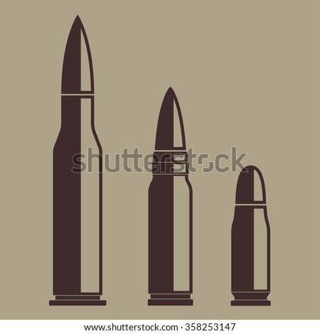 Bullet icon set. Vector illustration of various bullets.