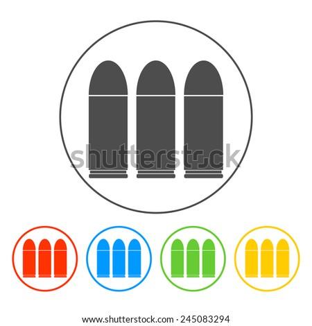 bullet icon, set.  Vector illustrator EPS 10 - stock vector