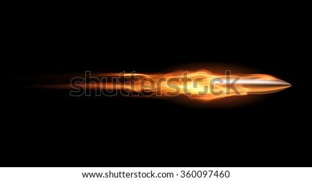 Bullet in flame
