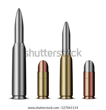 Bullet set eps10 - stock vector