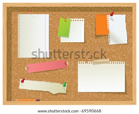 bulletin board - stock vector