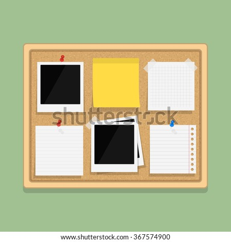 Noticeboard stock images royalty free images vectors for Cork board pin display