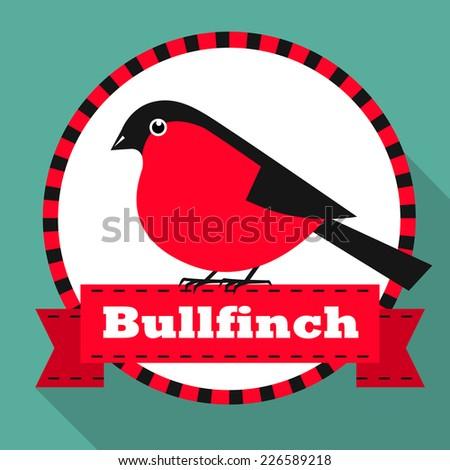 Bullfinch. Vector illustration. - stock vector