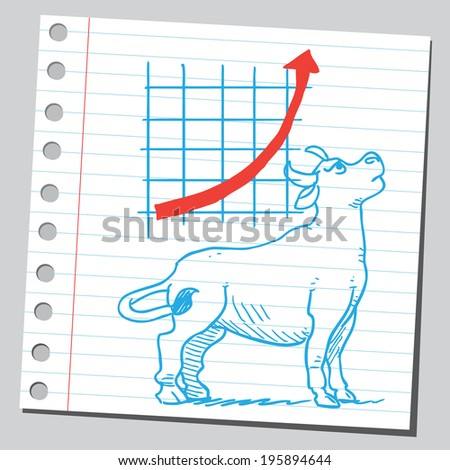 Bullish market ( business growth diagram) - stock vector
