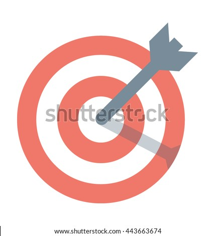 Bullseye Arrow Vector Icon