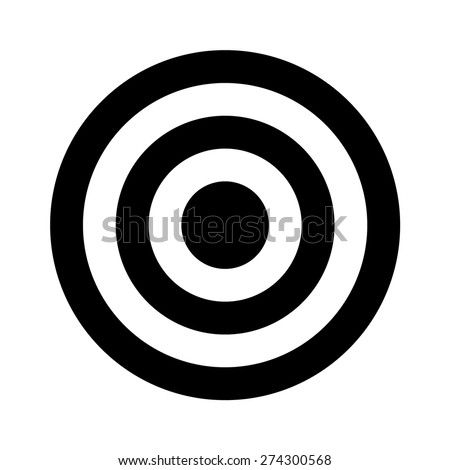 Bullseye target flat icon for apps and websites - stock vector