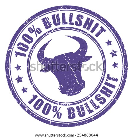 Bullshit stamp - stock vector