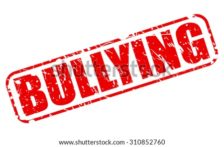 BULLYING red stamp text on white - stock vector