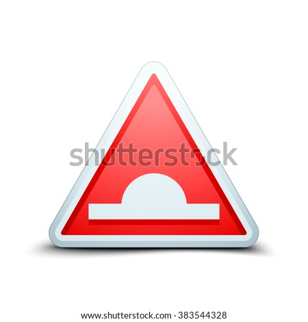 Bump warning traffic sign