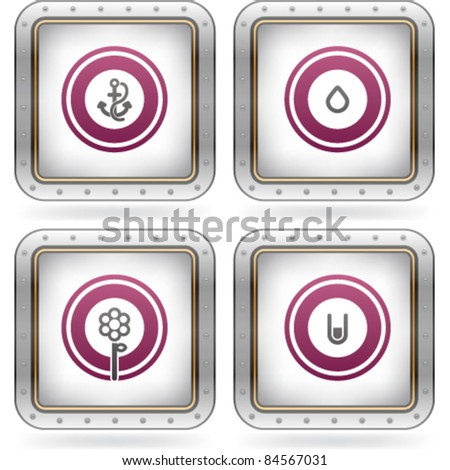 Bunch of abstract web icons