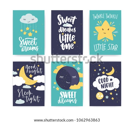 Bundle Colorful Poster Flyer Templates Good Stock Vector 1062963863