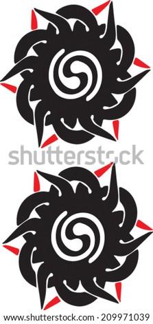 bunga terung iban sea dayak tribal stock vector 209971039 shutterstock. Black Bedroom Furniture Sets. Home Design Ideas
