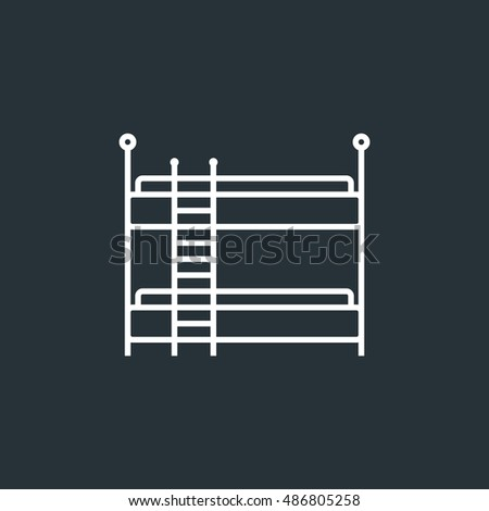 Bunk icon image jpg, vector eps, flat web, material icon, UI illustration
