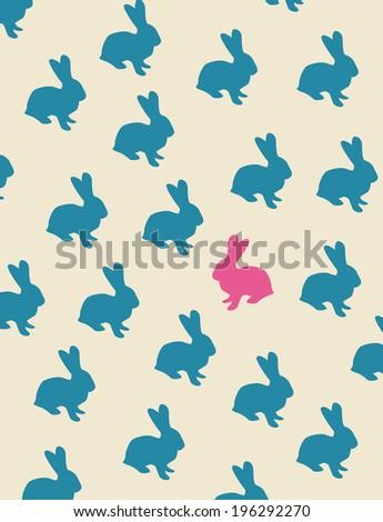 bunny background. vector version - stock vector