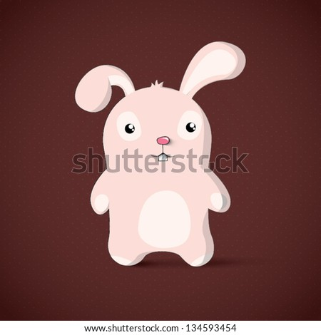 Bunny easter card design. Vector character illustration - stock vector