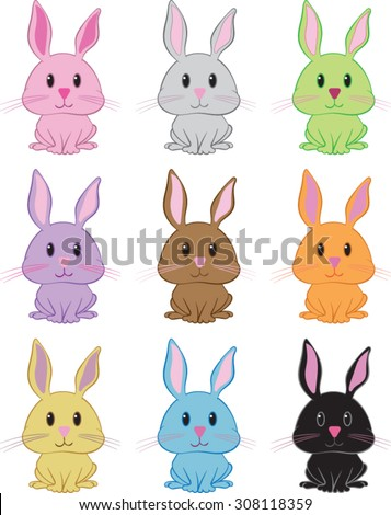 bunny rabbit clipart vector illustration stock vector 2018 rh shutterstock com bunny rabbit face clipart cute bunny rabbit clipart