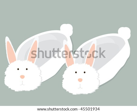 bunny slippers - vector version