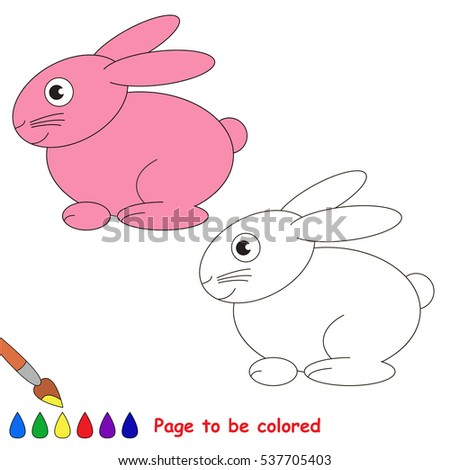 Bunny Be Colored Coloring Book Educate Stock Vector 537705403 ...