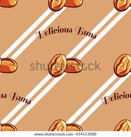 Buns Seamless Pattern