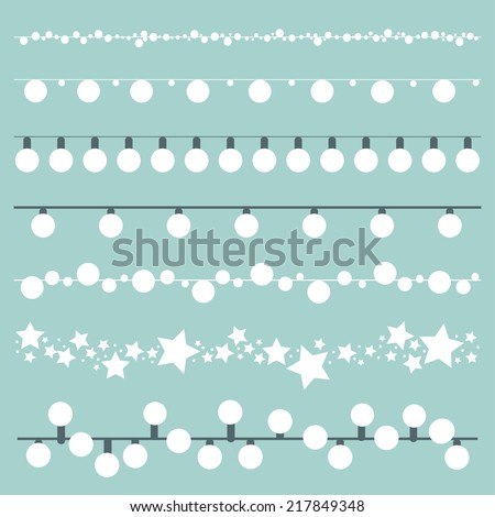 Bunting Lights and Lanterns - stock vector