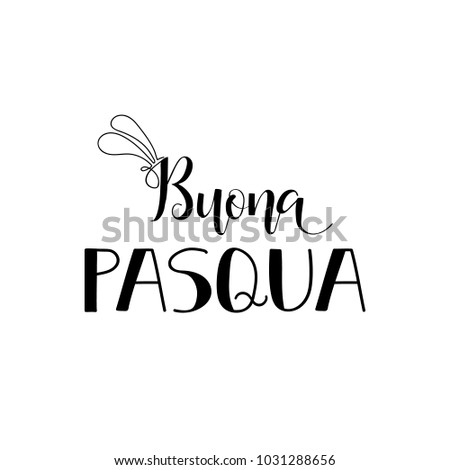 Buona pasqua lettering translation italian happy stock vector buona pasqua lettering translation from italian happy easter quote to design greeting m4hsunfo