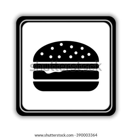 burger  - black vector icon - stock vector