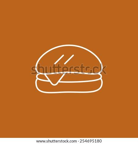 burger icon - stock vector