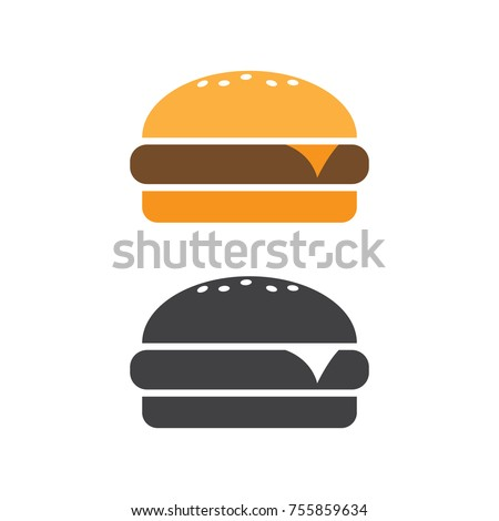 Burger icon vector. Fast food vector illustration